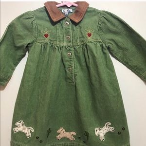 Toddler Cowgirl Theme LE TOP Corduroy Dress